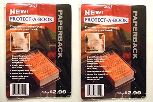 Clear Book Protector Cover with Book Marker and Magnifier 7.5
