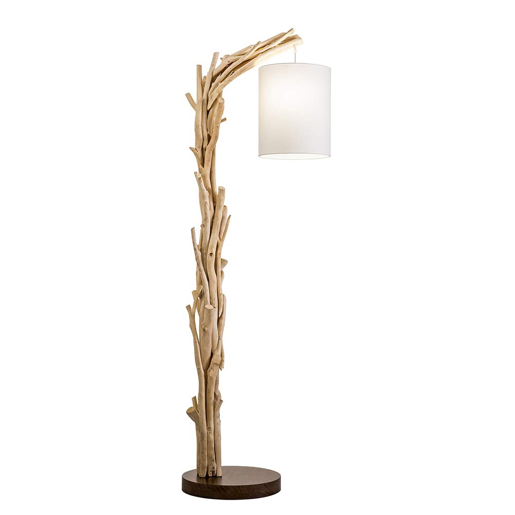 Vandue Corporation Modern Home Offset Driftwood Nautical Wooden Floor Lamp by Vandue Corporation