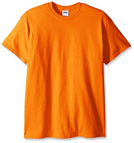 Gildan Men's Ultra Cotton Tee, Safety Orange, X-Large