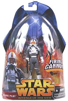 Star Wars Episode III 3 Revenge of the Sith CLONE PILOT TROOPER With Firing Cannon Figure #34