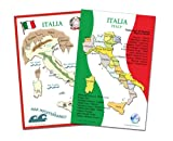 Italian Language School Poster Set - Large Maps of Italy, Wall Charts for Classroom and Playroom (16.5x23.5 inches)