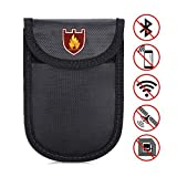 "Fireproof Document Bag - 3.93×5.5"" Waterproof and Anti-Signal Interference Envelope - Small Fire Resistant Safe Storage Pouch Sleeve Wallet for Car Key, Cash, Cell Phone, Bank Deposit and Passport"