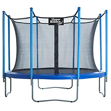 Upper Bounce Easy Assemble 10-Foot Trampoline and Enclosure Set