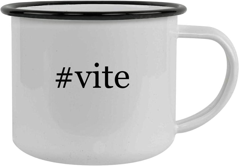 #vite - 12oz Hashtag Stainless Steel Camping Mug, Black