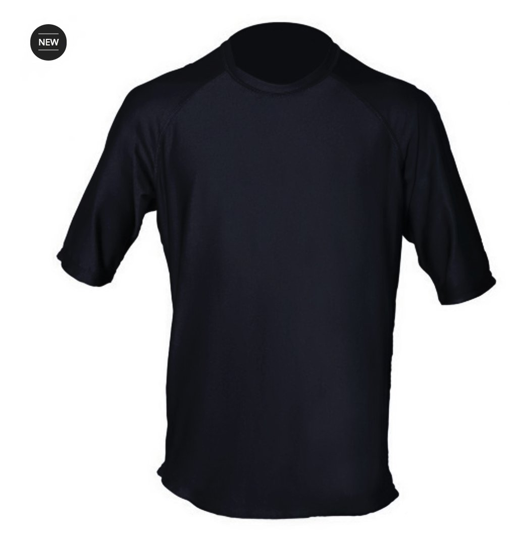 Loose Fit Swim Shirts for Men - Short Sleeve UV 50 + Sun Protection Swimwear - Play in The Sun All Day with No Sunburn - The Softest Most Comfortable Swimming Clothing (Black, 2XL) by Paddle Board Accessories