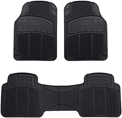 AmazonBasics 3 Piece Car Floor Mat, Black