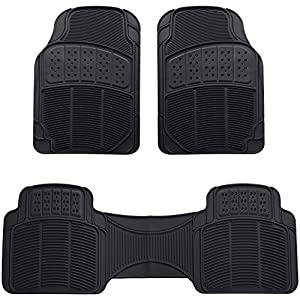 AmazonBasics 3 Piece Car Floor Mat, Black