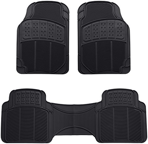 AmazonBasics 3 Piece Car Floor Mat, Black (Mats Front 2 Piece Auto)