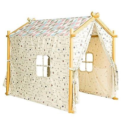Amazon.com: teepee tent Cotton Canvas Children Indoor Playhouse Tent ...