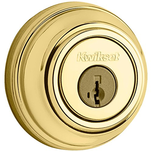 Kwikset 985 Double Cylinder Deadbolt featuring SmartKey in Polished Brass (Double Garage Series Door)