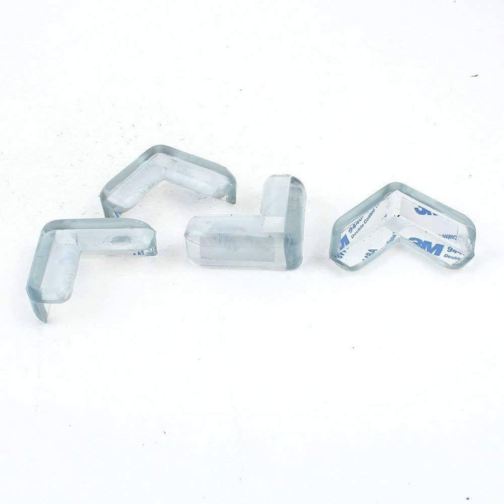 Ogquaton Sicherheit Eckenschutz L-Form L/ächeln Gesicht Transparent Muster Kinder Sicherheit Eckenschutz Kunststoff Tisch Ecke f/ür Kind 12 STK