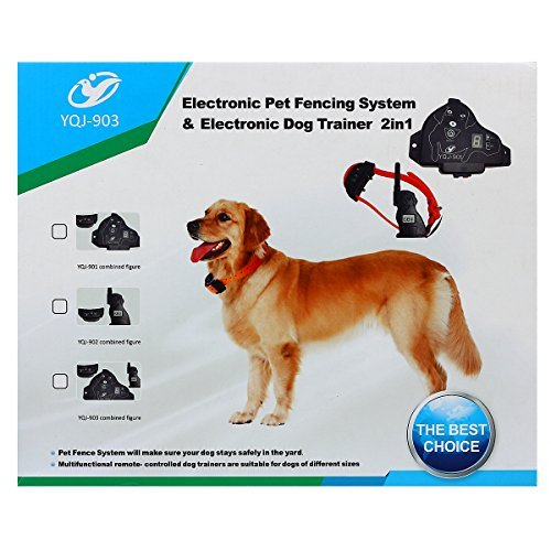 FunAce Electronic Invisible Pet Fence Containment & Remote Dog Trainer 2 in 1 System Rechargeable & Waterproof Extra Thick 0.6mm 22 Gauge 600Ft Wire, 4 Training Mode (Vibration, Beep, Shock, Search)