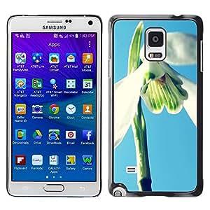 Caucho caso de Shell duro de la cubierta de accesorios de protección BY RAYDREAMMM - Samsung Galaxy Note 4 - Plant Nature Forrest Flower 2