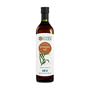 Chosen Foods Toasted Sesame Oil 25.4 oz., Non-GMO, for Salads, Dressings, Marinades, Asian Cooking and Recipes