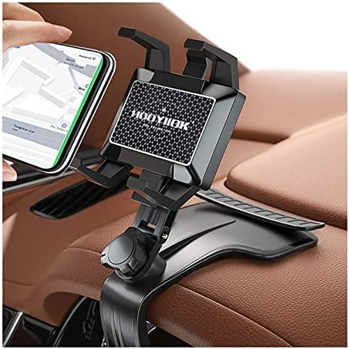 HooYiiok Cell Phone Holder Mount for Car, Universal Phone Stand 360 Degree Rotation Adjustable, Car Phone Holder Suitable for 4 to 7 inch Smartphones