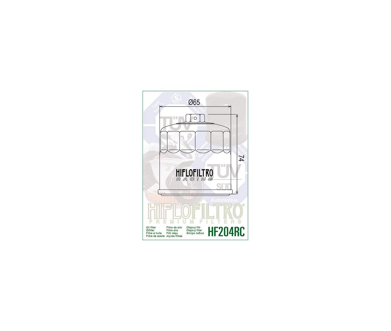 Honda cb1000r-08//16/ /500/cb-13//17-cb 650/F-cbr 650/F-14//17-filtre Hat /Öl HF204RC Racing