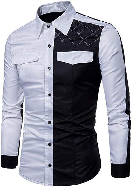 ☀☀ ¡Promoción! NEARTIME Camisas de manga larga para hombre ...