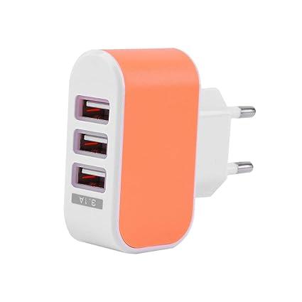 Losenlli Triple USB 3 Puertos Muro Viaje en casa Adaptador ...