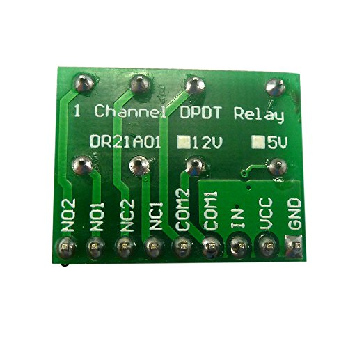 Mini DC 12V DPDT Double-Throw Relay Module Anti-polarity Switch Board Motor LED - Dual Relay Module
