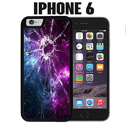 brand new 3c6ed 60db2 iPhone Case Cracked Screen Prank for iPhone 6 Plastic Black (Ships from CA)