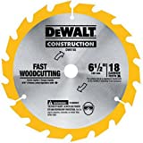 DEWALT DW9155 6-1/2-Inch 18 Tooth ATB Fast Cutting Carbide Saw Blade with 5/8-Inch Arbor