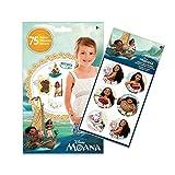 Disney Moana 75 Assorted Temporary Tattoos and 24 Large Moana Stickers