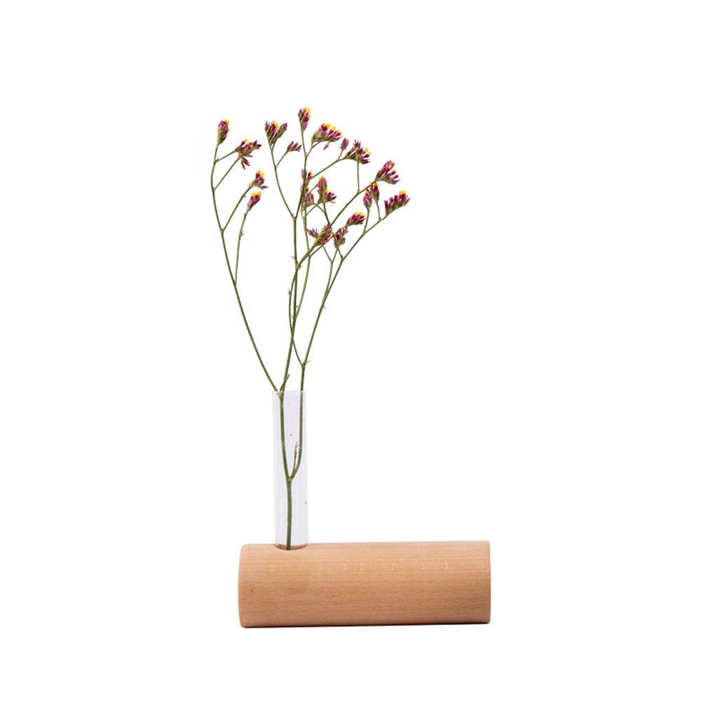 YSS Decorazione di fiori desktop desktop creativo Decorazione di fiori in legno semplice (escluse piante verdi)