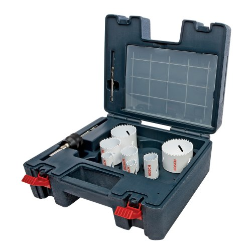 Bosch HB17PL 17-Piece Plumber Bi-Metal Hole Saw Set (Metal Hole Saw Bi Plumbers)