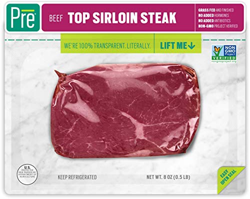 Pre, Top Sirloin Steak - 100% Grass-Fed, Grass- Finished, and  Pasture-Raised...