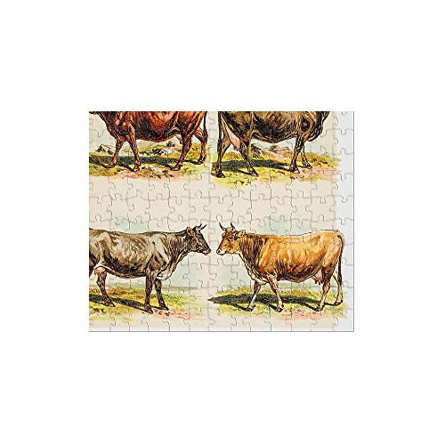 Media Storehouse 252 Piece Puzzle of Breeds of Livestock Engraving 1882 (13613263)