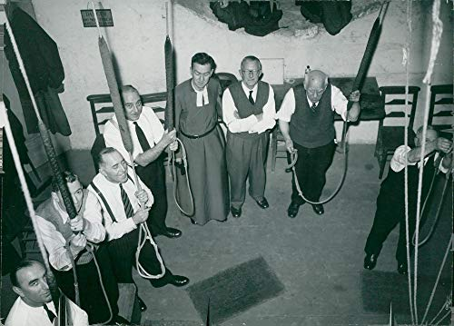 (Vintage photo of The bells at Westminster Abbey ring in the bells at the birth of Prince Andrew)