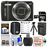 Minolta MN12Z OIS 12x Zoom Wi-Fi Digital Camera (Black) with 32GB Card + Case + Battery & Charger + Tripod + Kit