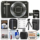 Minolta MN12Z OIS 12x Zoom Wi-Fi Digital Camera (Black) with 32GB Card + Case + Battery & Charger + Tripod + Kit