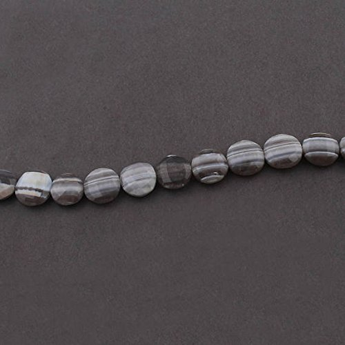 JP_Beads 1 Strand Bolder Opal Faceted Coin Beads Briolettes 13mm-15mm 7 inches ()