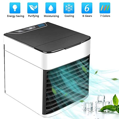 MKYUHP Artic Air Personal Air Cooler, Portable Air Conditioner, USB Mini Evaporative Air Cooler, Humidifier, Purifier with 6 Speeds and Extra Quiet Sleep Mode for Office Room Outdoors