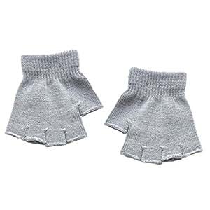 Voberry mitad Dedos sin dedos de guantes de invierno cálido para bebé bebé niñas niños
