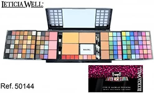 Estuche completo maquillaje LW: 120 Sombras a ojos 3 Poudres Compact 8 Gloss Pintalabios 6 sombras a Joues 6 pinceles 1 1 esponja, 1 espejo reflectante: Amazon.es: Belleza