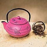 old dutch iron teapot - Old Dutch International Cast Iron Ginkgo Teapot in Fuchsia