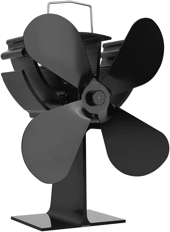 Ventilador Queta para chimenea, 4 aspas de rotor de alas ...