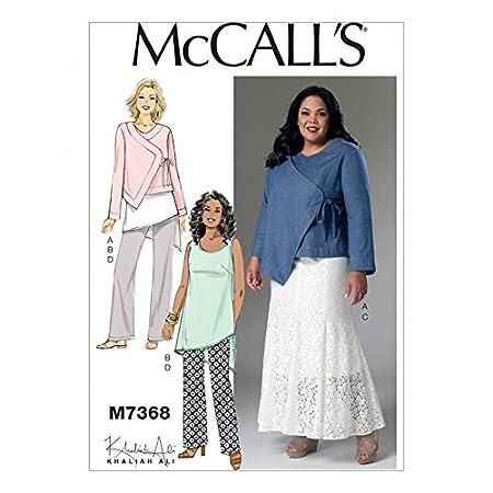Mccalls Ladies Easy Sewing Pattern 7368 Asymmetrical Jacket Tunic