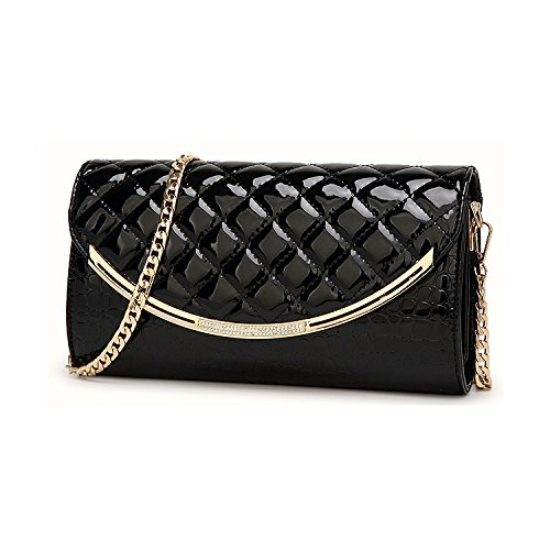 Ladies Bag Bag Women Bags Clutch Evening Wedding Bag Bridal Envelope Leather Shoulder Bag Black Prom Handbag For Bag PU Clutch IZwqEXq