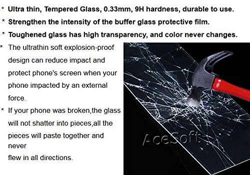 [Samsung Galaxy Sol Screen Protector] Full Coverage Ultra Clear Scratch Resistant Anti-Shatter Tempered Glass Screen Protector (Black) for Cricket Samsung Galaxy Sol SM-J321A Android phone by SodaPop (Image #2)