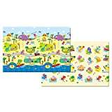 """Baby Care Kid's Waterproof Shock-Absorbing Dino Cushion Double-sided Play Mat Dimensions: 72.8″ L x 49.2"""" W x .47"""" H Review"""