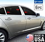 Made In USA! 2008-2015 Jaguar XF 6PC Stainless Steel Chrome Pillar Post Trim
