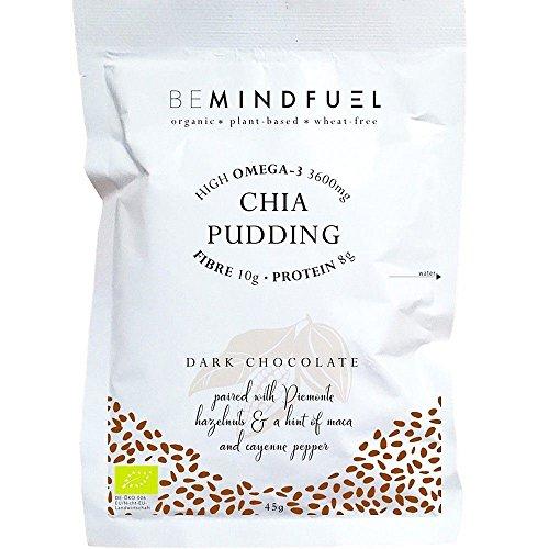 Bemindfuel Organic Chia Pudding Mix Dark Chocolate 40g (Pack of 10)