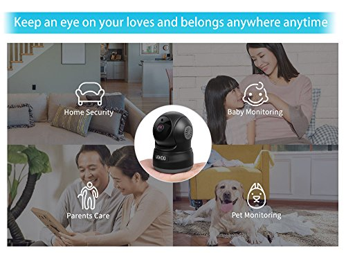 Wireless Security Camera, UOKOO 720P HD Home WiFi Wireless Security Surveillance Camera with Motion Detection Pan/Tilt, 2 Way Audio and Night Vision Baby Monitor, Nanny Cam Wireless Security Camera, UOKOO 720P HD Home WiFi Wireless Security Surveillance Camera with Motion Detection Pan/Tilt, 2 Way Audio and Night Vision Baby Monitor, Nanny Cam 51Ek4ldIrxL