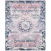 Area Carpet Rugs Traditional Oriental Vintage Collection for Living Room,Bedroom,Dining Room,Blue and Cream 5×8