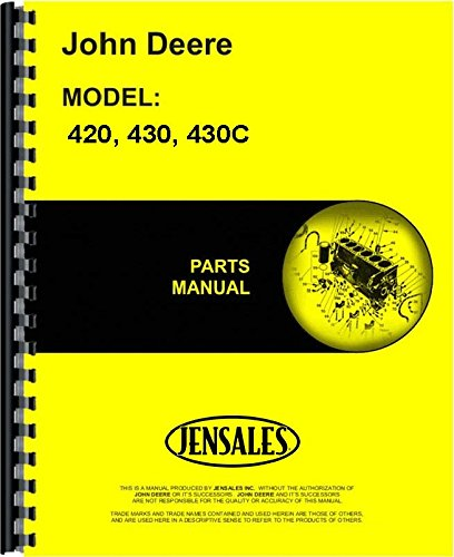 - John Deere 420 430 Tractor 430 Crawler Parts Manual (JD-P-PC505)