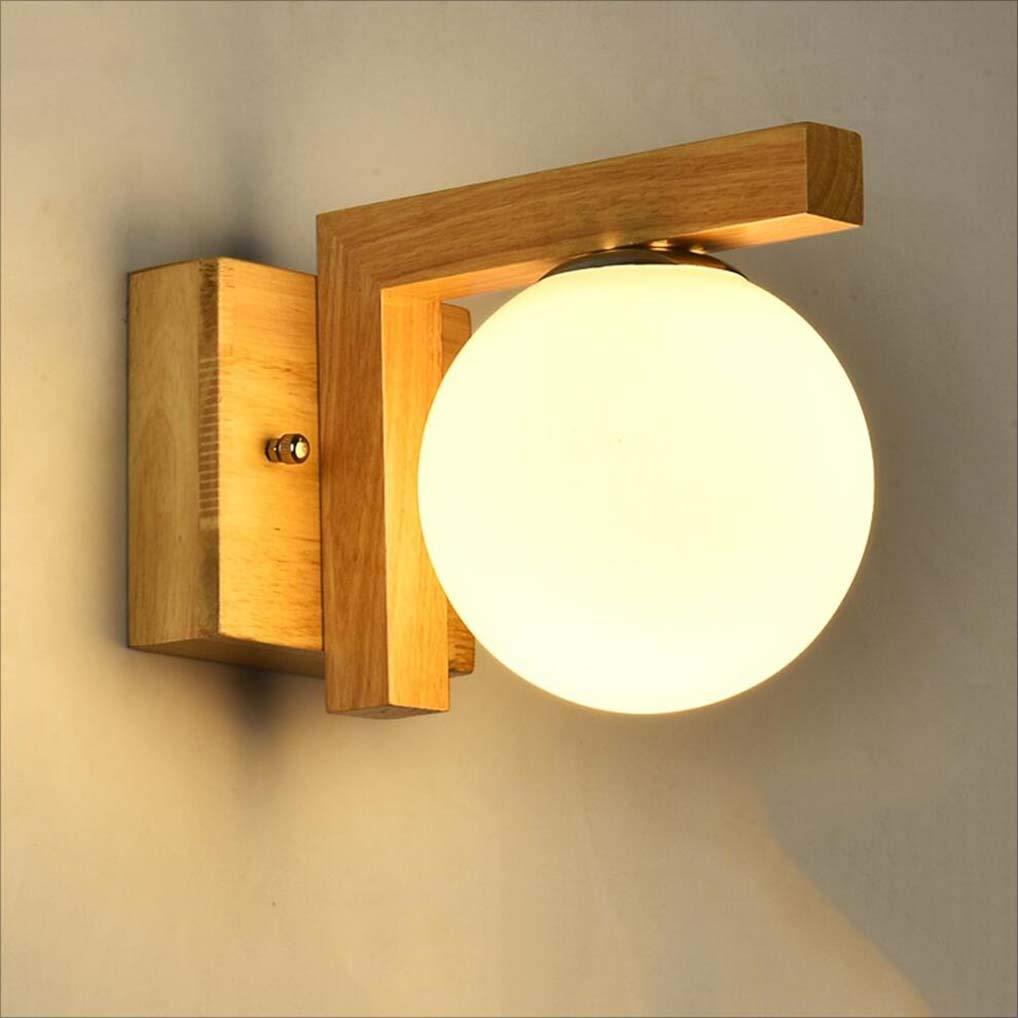 XRFHZT Aisle Korridor Lampe Baumstamm Schlafzimmer Nachtseitenlampen in Innenbeleuchtung Nordische minimalistische Holzwandlampe