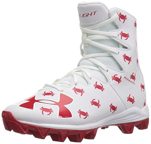 Under Armour Boys' Highlight RM Jr. - Limited Edition, White (100)/Red, 5